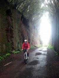 bicicleta de montaña, en Anaga