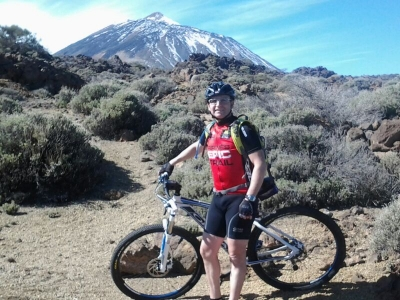 Francisco, en el Teide